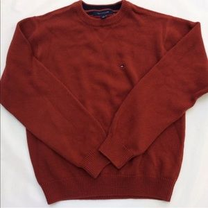 Tommy Hilfiger Red Crew Neck Sweater Preppy